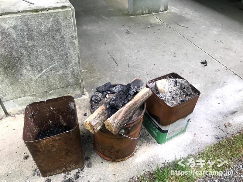 恐羅漢エコロジーキャンプ場炭も捨てられます