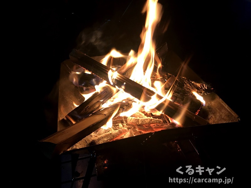 らかん高原オートキャンプ場・焚き火